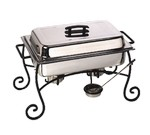 American Metalcraft Chafer Frame & Cup, curled feet