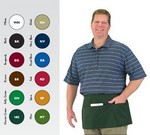 Chef Revival Waist Apron, 3-Compartment pocket, Green