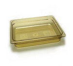 "Cambro High-heat 1/2 x 2.5"" Pan, amber"