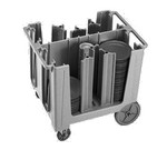 Cambro Dish Cart, adjustable, black