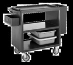 Cambro Service Cart, three shelves, black
