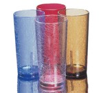 Cambro Tumbler, 12 oz., crackled design, clear