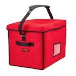 "Cambro Stadium Delivery Bag, 21"" x 15"" x 17"", Red"