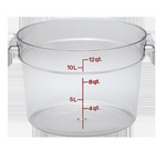 Cambro 12 qt Clear Container, round