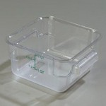 Carlisle 2 qt Food Container, Square, Clear