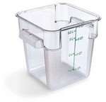 Carlisle 4 qt Food Container, Square, Clear