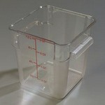 Carlisle 8 qt Food Container, Square, Clear