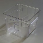 Carlisle 12 qt Food Container, Square, Clear