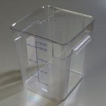 Carlisle 18 qt Food Container, Square, Clear
