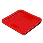 Carlisle 6/8 qt Food Container Cover, Red