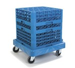 Carlisle Glass Rack Dolly, without handle, blue
