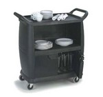 Carlisle Bus Cart, 3-Shelf, Black