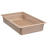 "Cambro High-temp Full x 4"" Pan, sandstone"