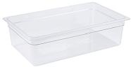 "Cambro Food Pan, full size, 6"" deep, clear"
