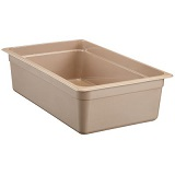 "Cambro High-temp Full x 6"" Pan, sandstone"