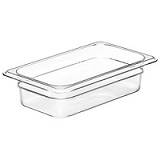 "Cambro Food Pan, 1/4 size, 2-1/2"" deep, clear"