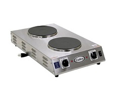 Cadco Hot Plate, 2-Burner, Electric