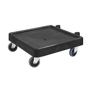 Carlisle Glass Rack Dolly, without handle, black