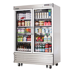 Everest Reach-In Refrigerator, 2-Section, Glass Doors