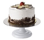 "Focus Foodservice Cake Stand, 5"""" high x 12"" dia."