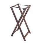 "G.E.T. Tray Stand, 31-1/2"" high, Mahogany"