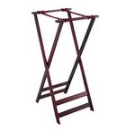 "G.E.T. Tray Stand, 38"" high, Mahogany"