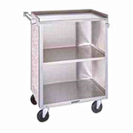 Lakeside Bussing Cart, 3-Shelf, Enclosed