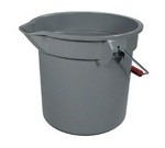 Rubbermaid Bucket, round, 14 qt., Gray