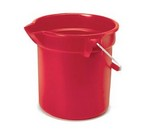 Rubbermaid Bucket, round, 14 qt., Red