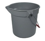 Rubbermaid BRUTE® Bucket, round, 10 qt., Gray