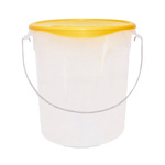 Rubbermaid 22 qt Round Container Only, w/ Bail, Clear