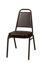 Sunlow Stacking Chair, Brown/Brown