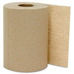 Hard Wound Roll Towels, Kraft, 1-Ply, Natural (6 rolls per case)