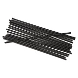 "Straw, 5-1/4"", Sipper, Black, Unwrapped (case of 10,000)"