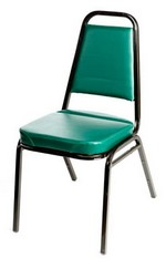 Sunlow Stacking Chair, Hunter Green/Black