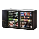True Back Bar Cooler, 2-Section, Glass Doors