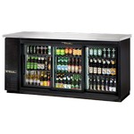 True Back Bar Cooler, 3-Section, Glass Doors