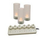 Update LED Candles, Rechargeable, Set of 12