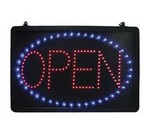 "Update LED Sign, ""Open"""