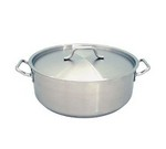 Brazier, 15 qt., w/ Lid, Stainless Steel, Induction