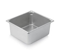 "Vollrath Food Pan, Stainless, 2/3 size, 6"" deep"