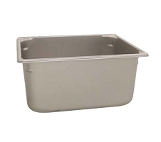 "Vollrath Food Pan, Stainless, 1/2 size, 6"" deep"